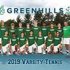 Greenhills Boys Varsity Tennis Team 8x10 2019