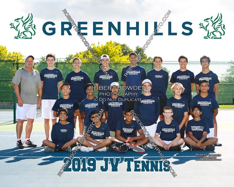 Greenhills Boys JV Tennis Team 8x10 2019