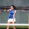 Leominster's Mae-Ja Burns during the match against Fitchburg High on Wednesday afternoon. SENTINEL & ENTERPRISE / Ashley Green