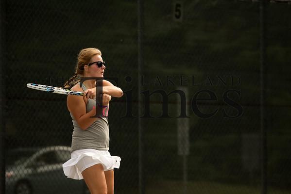 Lakeland Girls' Tennis Practice (8-9-16)
