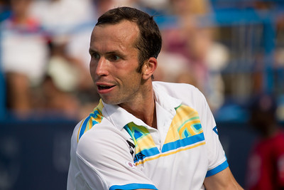 Radek Stepanek, of The Czech Republic, returns the ball during a championship match against Gael Monfils, of France, at the Legg Mason Tennis Classic, Sunday, Aug. 7, 2011, in Washington DC. The unseeded Stepanek upset the top seed Monfils in the finals in straight sets 6-4 6-4. The match was played at the William H.G. Fitzgerald Tennis Center in Rock Creek Park on hard court. Stepanek earned a check for $264,000 for his fifth career title. Stepanek at 32 became the oldest winner of the ATP Washington Classic since 35 year old Jimmy Connors in1988. (Photo by Jeff Malet)