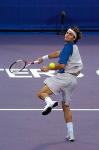 Masters Cup Westside Tennis Club, Houston TX,   November 2004  Federer vs. Gaudio