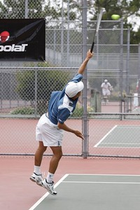 Serve from the other angle; momentum into the court