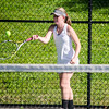 Nashoba's Emma Picaro competes in the division 1 girls' tennis state championship against Wellesley on Wednesday afternoon. SENTINEL & ENTERPRISE / Ashley Green