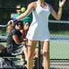 Nashoba's Ari Sanjar competes in the division 1 girls' tennis state championship against Wellesley on Wednesday afternoon. SENTINEL & ENTERPRISE / Ashley Green