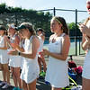 Nashoba girls cheer on their teammates during the division 1 girls' tennis state championship against Wellesley on Wednesday afternoon. SENTINEL & ENTERPRISE / Ashley Green
