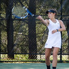 Nashoba's Keegan Castles competes in the division 1 girls' tennis state championship against Wellesley on Wednesday afternoon. SENTINEL & ENTERPRISE / Ashley Green