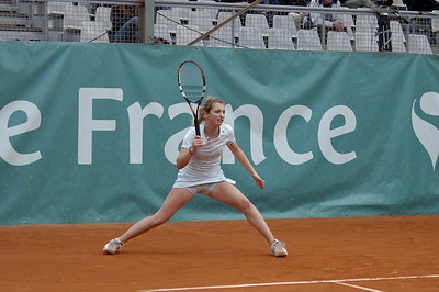 Mailyne Andrieux (FRA) vs Timea Bacsinszky (SUI) Timea Bacsinszky en glissade