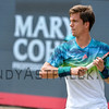 Aljaz Bedene from Great Britain returns to Bernard Tonic from Australia on Wednesday 8th of June 2016 at the Ricoh Open Grass Court Championships at the Autotron in Rosmalen in the Netherlands