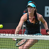 Madison Brengle (USA) returns to Richel Hogenkamp (NED) on Wednesday 8th of June 2016 at the Ricoh Open Grass Court Championships at the Autotron in Rosmalen in the Netherlands