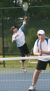 Doubles Tennis, Serving Greg Mikszan with doubles partmer Dan Pawlak from Canton GA