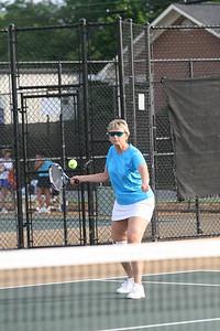 Tennis Doubles. Linda Pickering from Watkinsville GA. Double partner Sheila Hodge