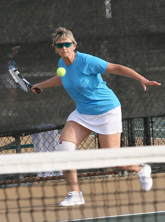 Tennis Doubles. Linda Pickering from Watkinsville GA. Double partner Sheila Hodge plays Sat at the Rome City Courts