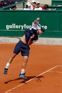 US Clay Court Tournament Westside Tennis Club, Houston TX,   April 2005  Andy Roddick (USA) vs. Sebastien Grosjean (FRA)