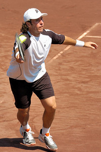 US Clay Court River Oaks Tennis Club, Houston TX,   April 2008  Agustin Calleri vs. Vincent Spadea