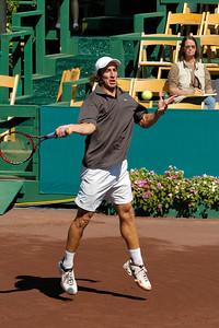 US Clay Court River Oaks Tennis Club, Houston TX,   April 2008  Ryan Harris vs. Pablo Cuevas