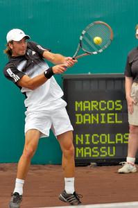 US Clay Court River Oaks Tennis Club, Houston TX,   April 2008  Marcos Daniel vs. Nicolas Massu