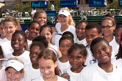 Anna Kournikova tennis clinic