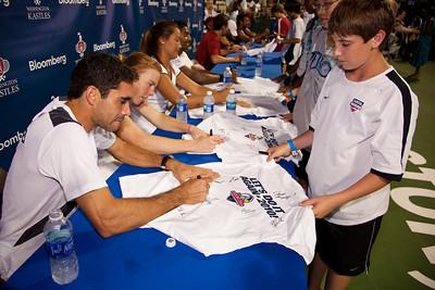 members of the Philadelphia Freedoms sign autographs