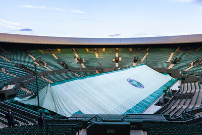 Court No1, without roof, 2016. A roof is being installed for use from the 2019 Championships onwards