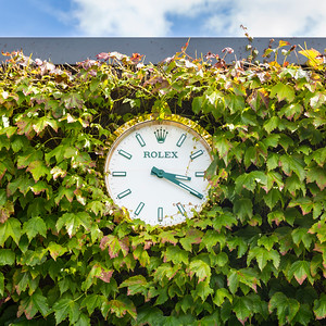 Rolex wall clock at the All England Lawn Tennis Club, Wimbledon