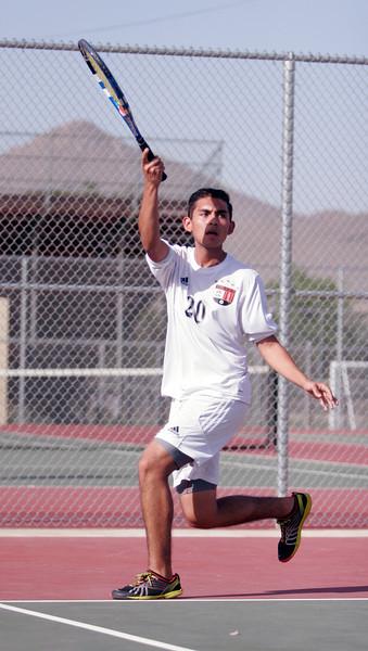 Woodlake Tiger tennis player, Baldamir Sanchez.