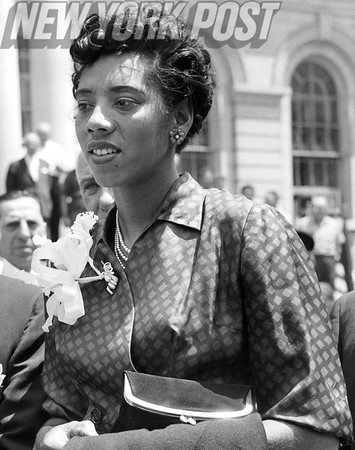 Althea Gibson, first African American woman to win a Grand Slam title. 1957