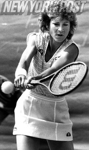 Female tennis legend Chris Evert Lloyd during the 1985  U.S. Open. 1985