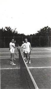 Men on Tennis Court (01231)