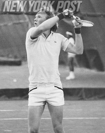 John Darren of Westchester plays for the championship in the Easters Bowe Junior Tennis Championship. 1978