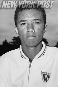 Portrait of Tennis Great Arthur Ashe. 1965