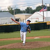 Columbia's Jackson Holmes delivers a pitch in the Class 2A Sectional Semifinals against Teutopolis on Wednesday, July 9, 2021, at Teutopolis High School, in Teutopolis, Illinois. (Alex Wallner/Effingham Daily News)