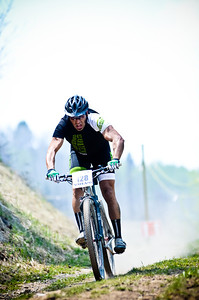 A racer takes a hill in the teva mountain games in vail