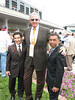 Tall Man, Barry Klarberg strikes a pose with jockeys