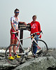 Philip Gaimon, 23, of Tucker, Georga, pictured on the summit of the 6,288' Mt. Washington with his girlfriend Liz Commins, of Orlando, FL, after winning the 2009 Mt. Washington Bicycle Hillclimb, for the second year in a row, with a time of 54.37.