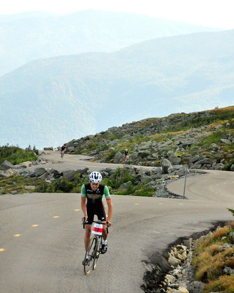 Nico Toutenhoofd, of Boulder, Colorado, opened a large lead, which he'd never relinquish, as he clocked a time of 57:26, to win The 38th Annual Mt. Washington Auto Road Bicycle Hillclimb, which was held on August 21st, 2010, in Gorham, New Hampshire. 600 cyclists raced up the grueling 7.6 mile Auto Road course, to the 6,288' summit of Mt. Washington, the highest peak in the Northeastern United States.