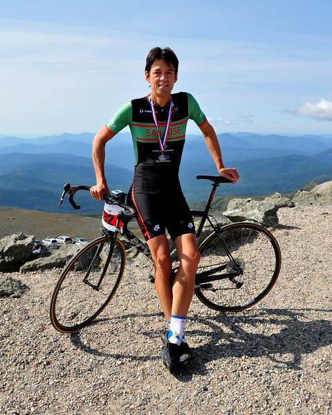 Nico Toutenhoofd, of Boulder, Colorado, won The 38th Annual Mt. Washington Auto Road Bicycle Hillclimb, which was held on August 21st, 2010, in Gorham, New Hampshire. 600 cyclists raced up the grueling 7.6 mile Auto Road course, to the 6,288' summit of Mt. Washington, the highest peak in the Northeastern United States.