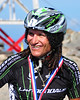 "David ""Tinker"" Juarez, of Whittier, California, relaxes at the top of Mt. Washington, after logging a 2nd place time of 58:08, in The 38th Annual Mt. Washington Auto Road Bicycle Hillclimb, which was held on August 21st, 2010, in Gorham, New Hampshire. 600 cyclists raced up the grueling 7.6 mile Auto Road course, to the 6,288' summit of Mt. Washington, the highest peak in the Northeastern United States."