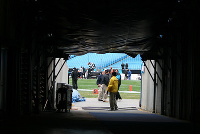 The tunnel from which the Panthers emerge.