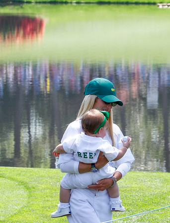 Everybody loves to bring their families to play with them on the par 3 tournament. Masters 1015