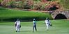 Tiger Woods making the turn at Amen Corner. 2015