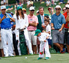 It's a swing and a  miss for Bubba Watson's little son at the Masters 2015<br /> #bubbawatson