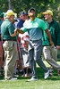Tiger Woods watches Jordan Spieth's tee shot at a practice round on Wednesday. The Masters 2015