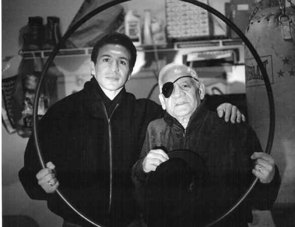 Champion Ray Mancini and his father, Lenny