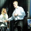 "Holy Family High School's Stephanie Giltner shakes hands with Bill Hanzlik during The Show on Monday, March 5, at the Pepsi Center in Denver. The Show is a press conference announcing the high school players that were selected for the 2012 Colorado State All Star game. For video interviews with the All Star players from Boulder County go to  <a href=""http://www.dailycamera.com"">http://www.dailycamera.com</a><br /> Jeremy Papasso/ Camera"