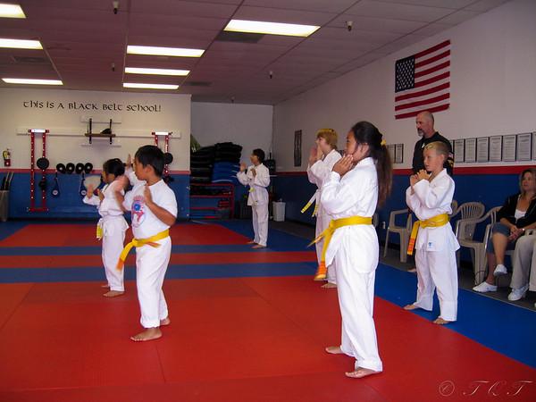 Tiffany & Tristan Karate Yellow Belt Test