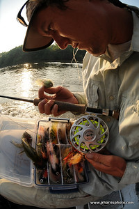Leonard getting his fly line and fly ready for an early morning session at sunrise