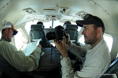 Chris Patterson filming Jeff Currier on the way to camp. We flew in  Cessna Caravan.