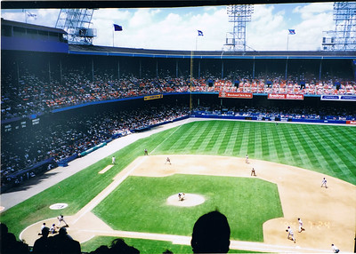 Two desks, lots of obstructed views, no luxury boxes, just real baseball