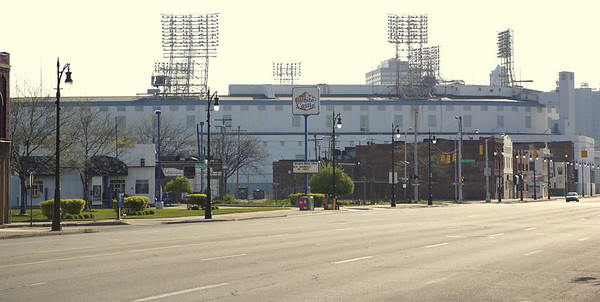 Tiger Stadium just before its destruction